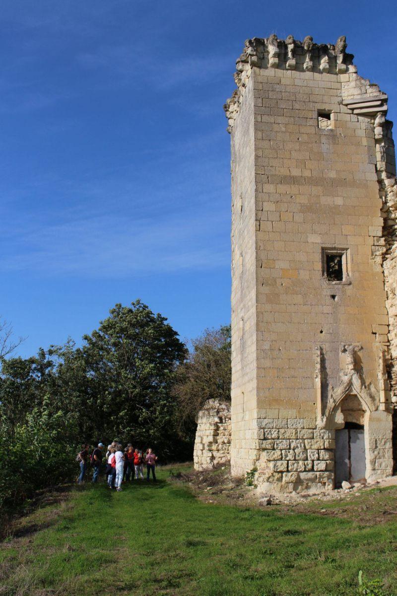 une-tour-carré-abritant-un-escalier-à-vis-est-accolée-au-donjon-primitif