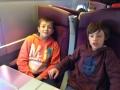 Dans le train pour Paris
